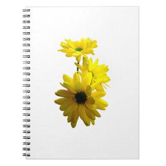 Three Bright Yellow Daisies Notebook