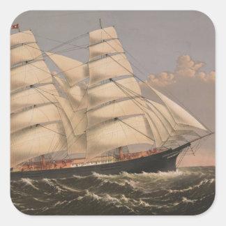 Three Brothers Ship Square Sticker