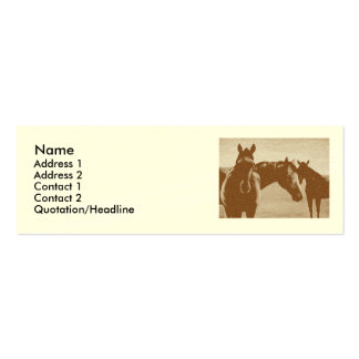 """Three Brown Horses"" Customized Profile card Double-Sided Mini Business Cards (Pack Of 20)"