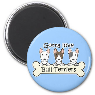 Three Bull Terriers Magnet