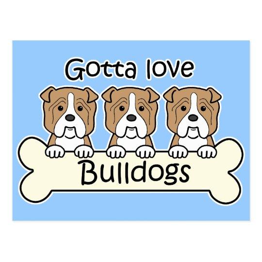 Three Bulldogs Postcard