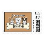 Three Bulldogs Stamps