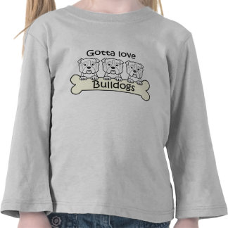 Three Bulldogs T-shirts