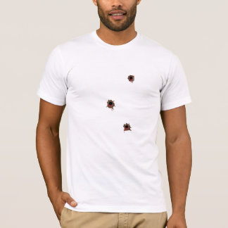 Three Bullet Wounds for Dark Skin T-Shirt