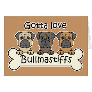 Three Bullmastiffs Stationery Note Card