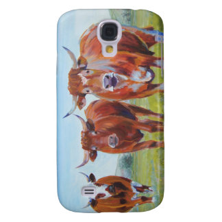 Three  Bulls Painting Samsung Galaxy S4 Cover