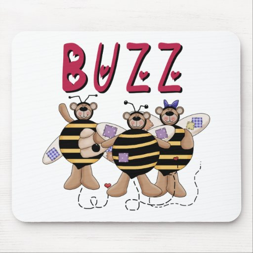 Three Bumblebee Buzz Mouse Pad