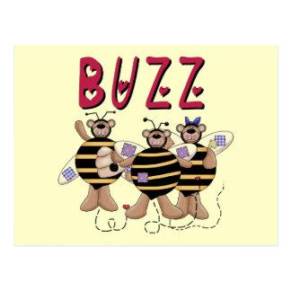 Three Bumblebee Buzz Tshirts and Gifts Postcard