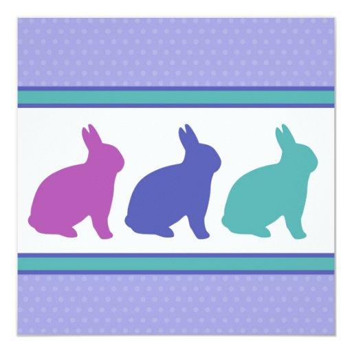Three Bunnies Easter Invitation