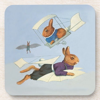 Three Bunny Rabbits Flying Planes and Gliders Coasters