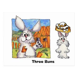Three Buns Postcard