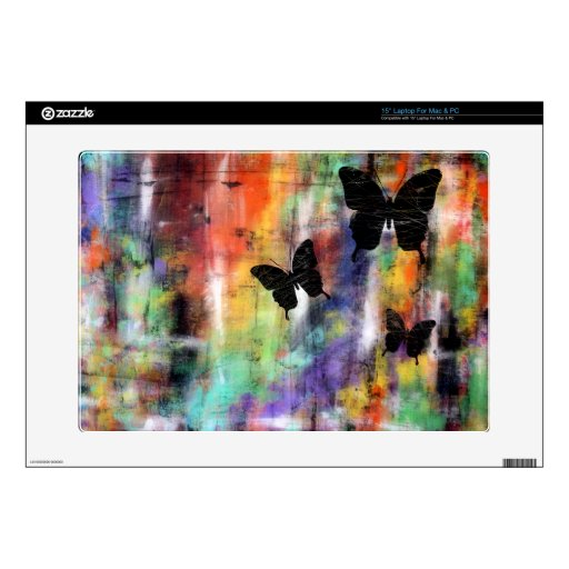 "Three Butterflies 15"" Laptop Decals"