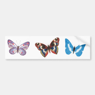 Three Butterflies Bumper Sticker