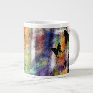 Three Butterflies Giant Coffee Mug