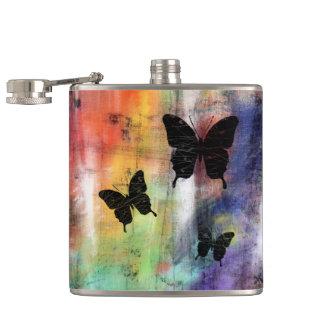 Three Butterflies Hip Flask