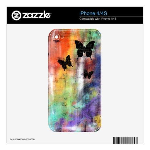 Three Butterflies iPhone 4 Skins