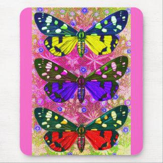Three Butterflies Mousemats