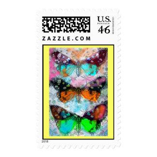 Three Butterflies Postage