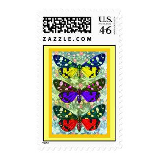 Three Butterflies Stamp