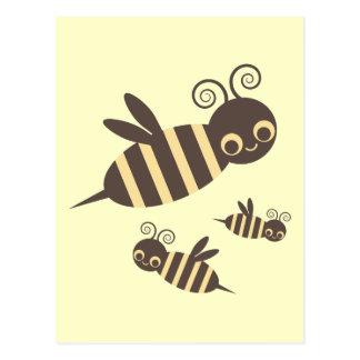 Three Buzzin Bees Postcard