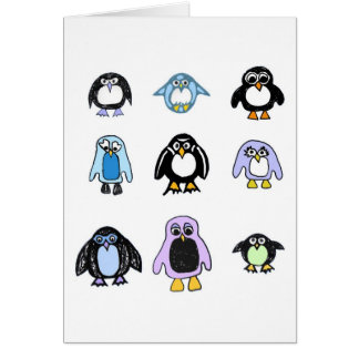 Three By Three Penguins Card