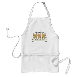 Three Cairn Terriers Adult Apron