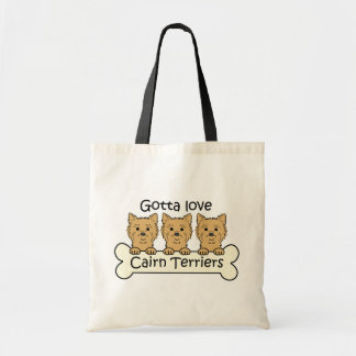 Three Cairn Terriers Budget Tote Bag