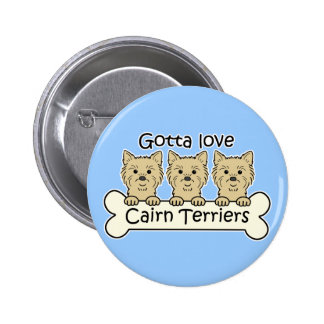 Three Cairn Terriers Buttons