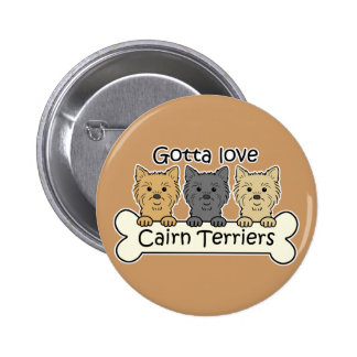 Three Cairn Terriers Pinback Buttons