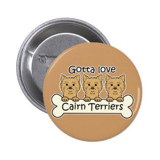 Three Cairn Terriers Pins