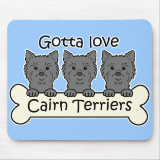Three Cairn Terriers Mouse Pad