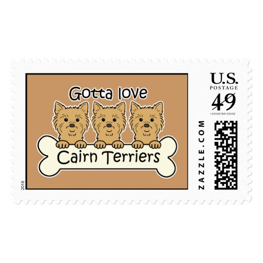 Three Cairn Terriers Stamp