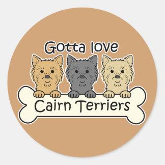 Three Cairn Terriers Sticker