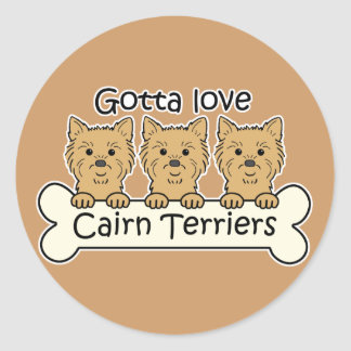 Three Cairn Terriers Stickers