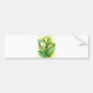 Three Cala Lilies Painting - Multi Car Bumper Sticker