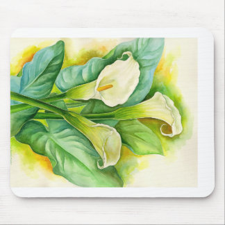 Three Cala Lilies Painting - Multi Mouse Pads