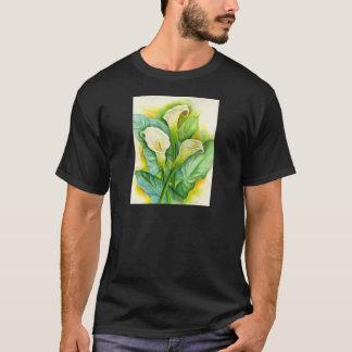 Three Cala Lilies Painting - Multi T-Shirt
