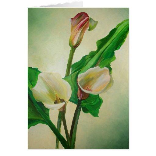 Three Calla Lilies Greeting Card