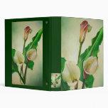 Three Calla Lilies Vinyl Binder