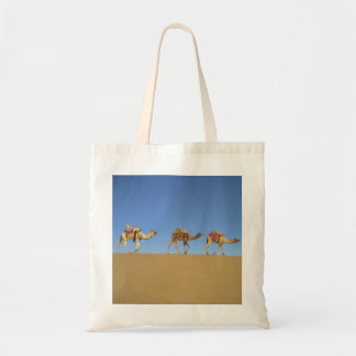 Three Camels in the Desert Tote Bag