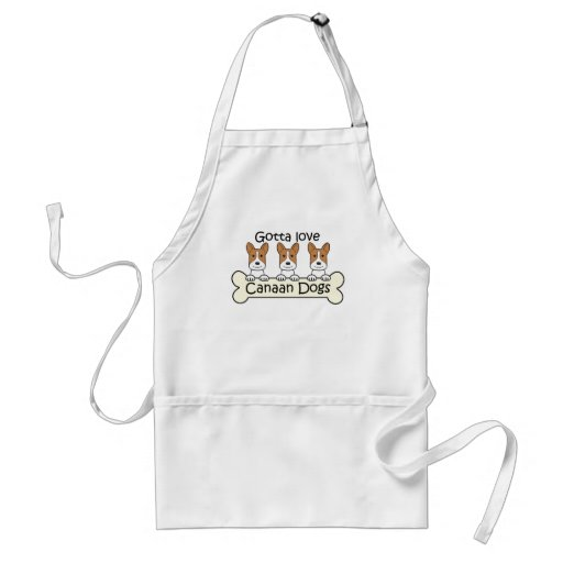 Three Canaan Dogs Adult Apron