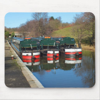 Three canal boats mouse pad