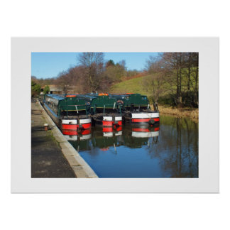 Three canal boats posters