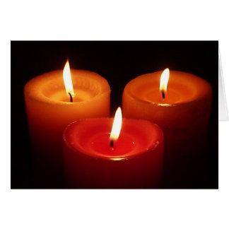 Three Candles Card