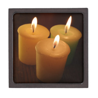 Three Candles Low Light Photography Gift Box