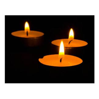 """Three candles"" postcards"