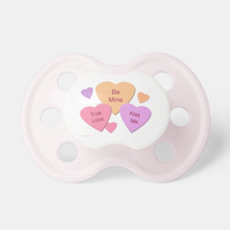 Three Candy Hearts Pacifier