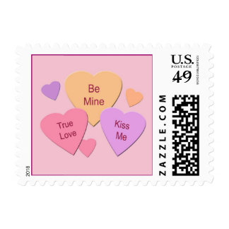 Three Candy Hearts Postage