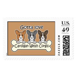 Three Cardigan Welsh Corgis Postage