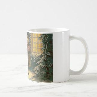 Three Carolers Cross Stitch Coffee Mug